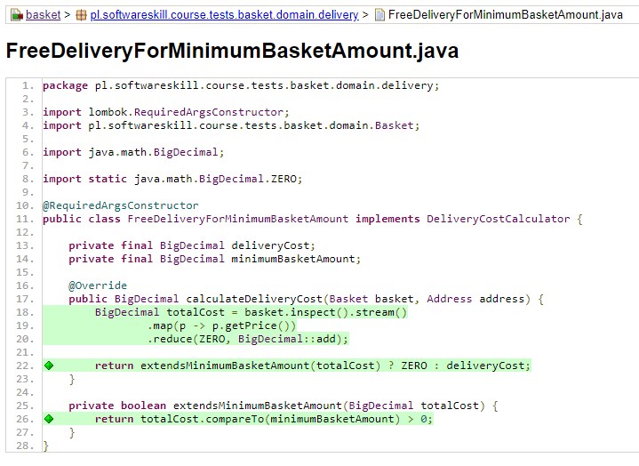 Raport JaCoCo Code Coverage