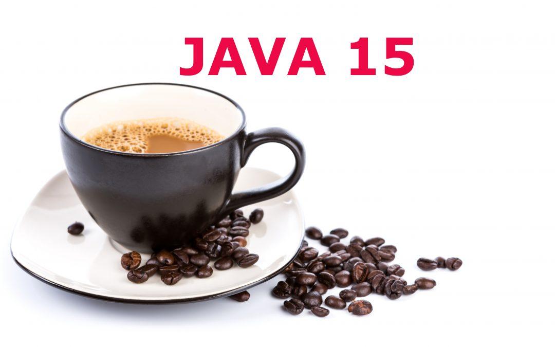 Java 15 nowości