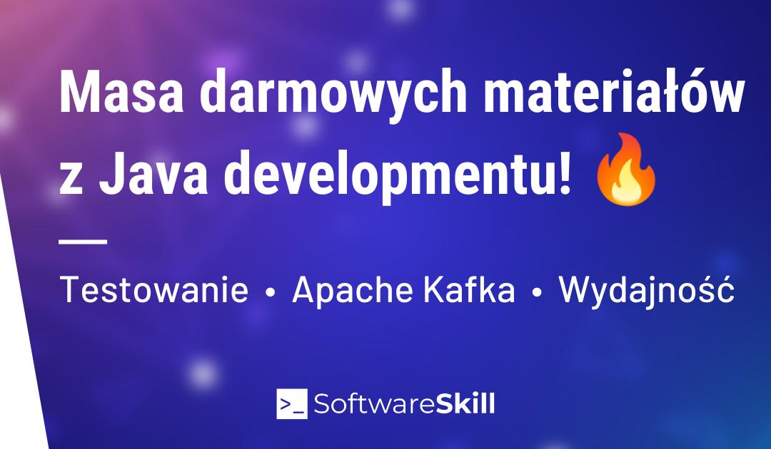 Masa darmowych materiałów z Java developmentu! 💪