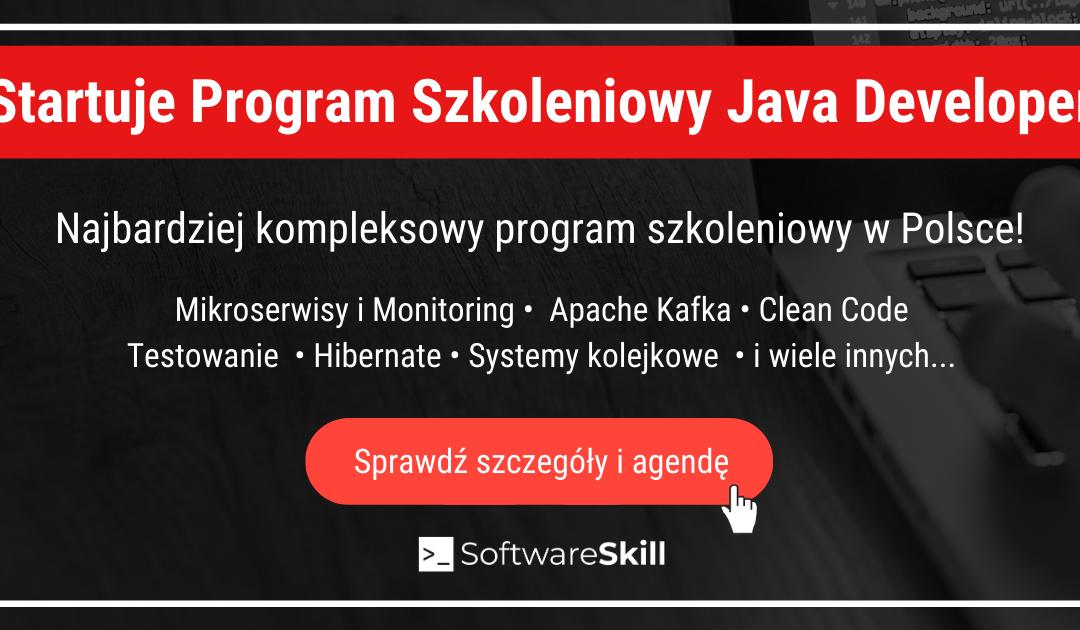 Program Java Developer startuje! 🎉 – wszystkie informacje (+CENA)